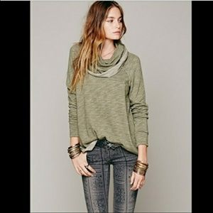Free People Beach Cowl Neck Pullover